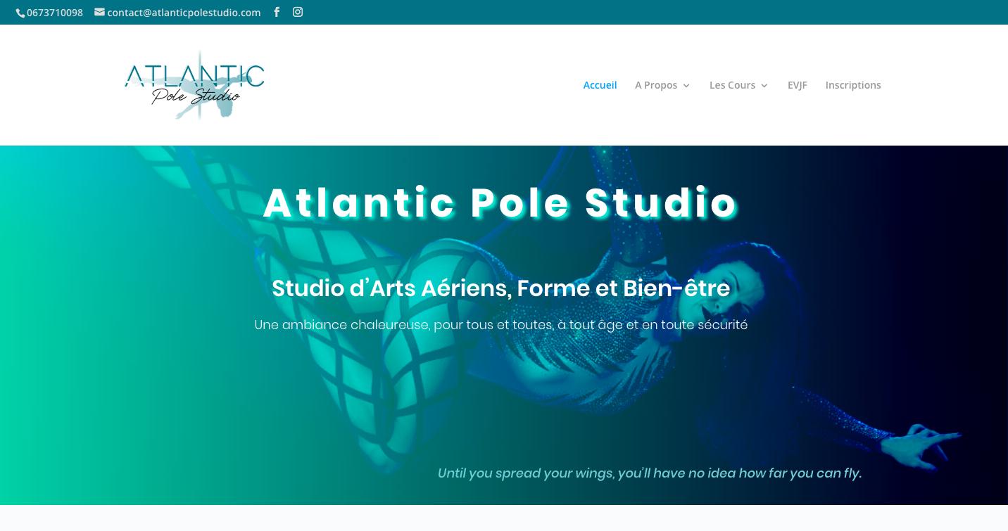Création de site web Atlantic Pole Studio Sense Education
